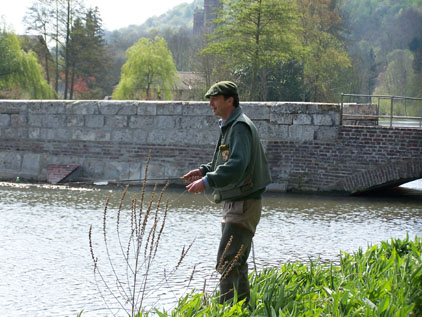 "Fly fishing the chalk stream ""Andelle"""